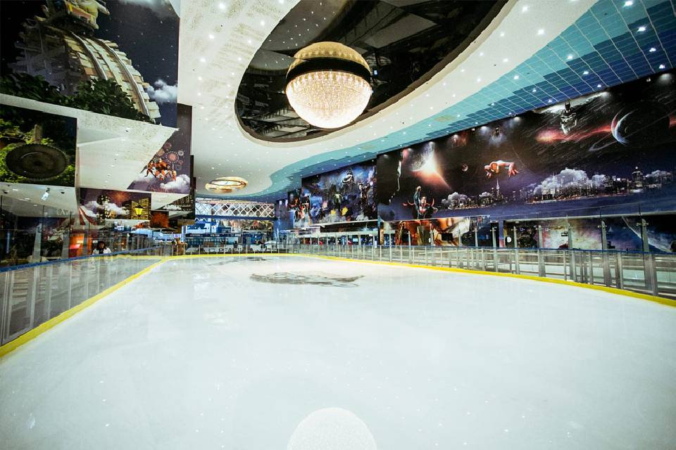 An Ice Oasis at the Beer Seva Cinema City, Israel