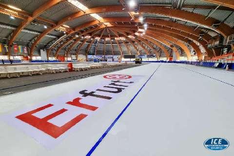 Die Eishalle in Erfurt erstrahlt wieder im perfekten weiß!